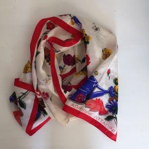 Adrienne Vittadini Flower Garden Silk Scarf